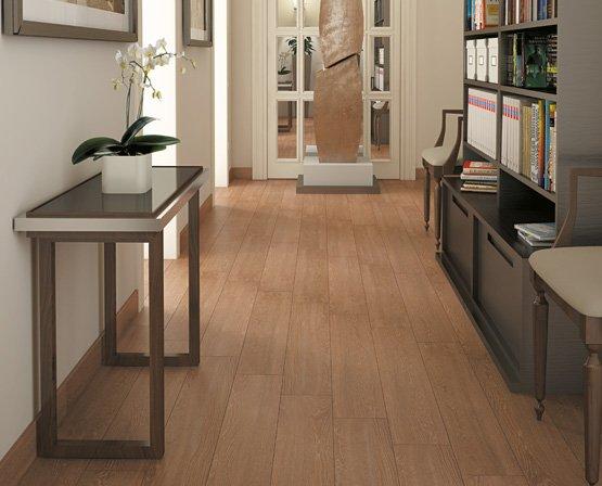 Lát sàn bằng gạch vân gỗ