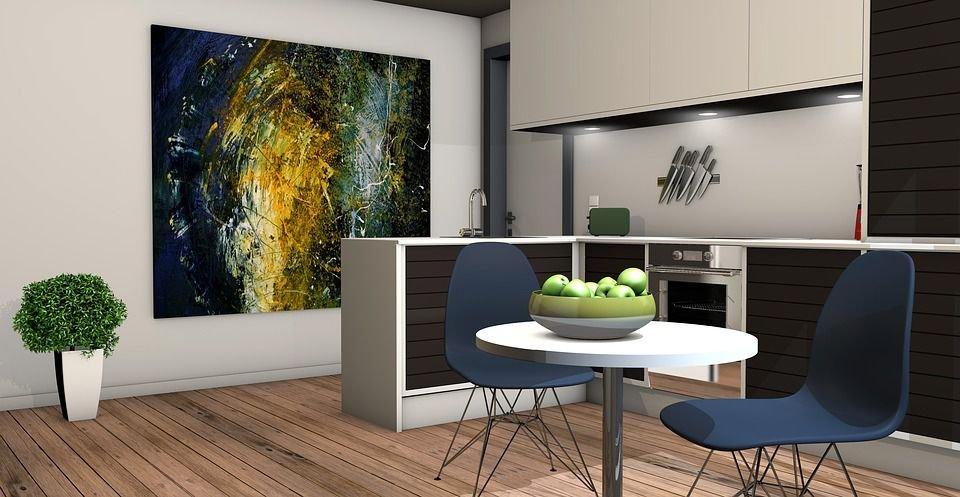 Sử dụng sự tương phản màu sắc và kích thước đồ nội thất