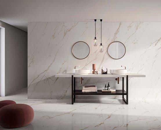 Thân gạch Porcelain full-body ứng dụng các tính năng ưu việt sản xuất theo tiêu chuẩn nghiêm ngặt Ý-Âu