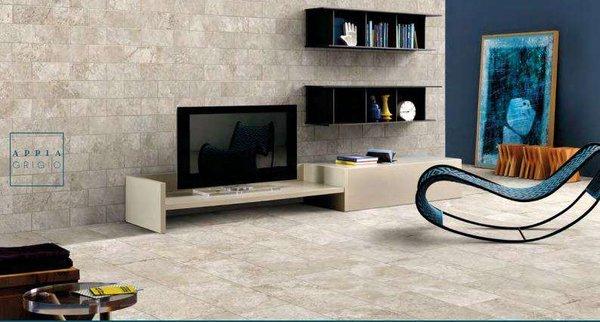 Appia được sử dụng cho cả sàn và tường