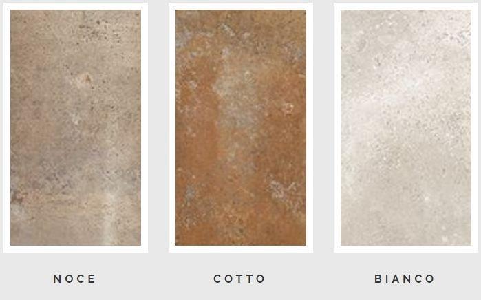 Bộ sưu tập Vignoni được thiết kế với ba gam màu cơ bản của gạch nung