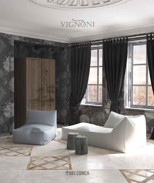 Bộ sưu tập Vignoni với thiết kế bề mặt thô sơ nhưng lại đem đến mội trải nghiệm hoài cổ phá cách