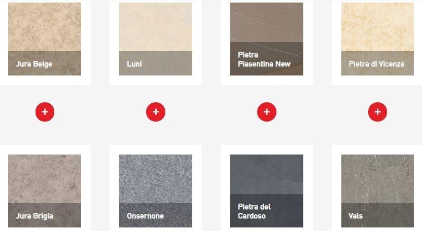 Các gam màu trong bộ sưu tập Pietre di Paragone 2
