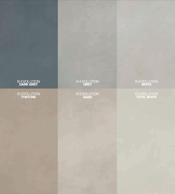 Các gam màu vân đá của bộ sưu tập R - Evolution