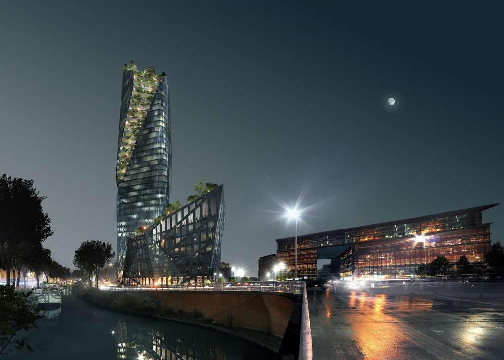 Dự án là sự kết hợp giữa Daniel Libeskind và kiến trúc sư cảnh quan