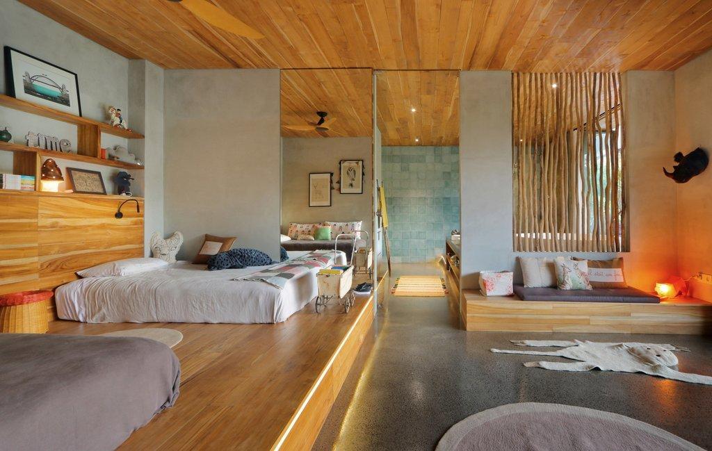 dự án được sử dụng gỗ tự nhiên với gam màu ấm trung tính tạo nên một không gian nội thất thân mật