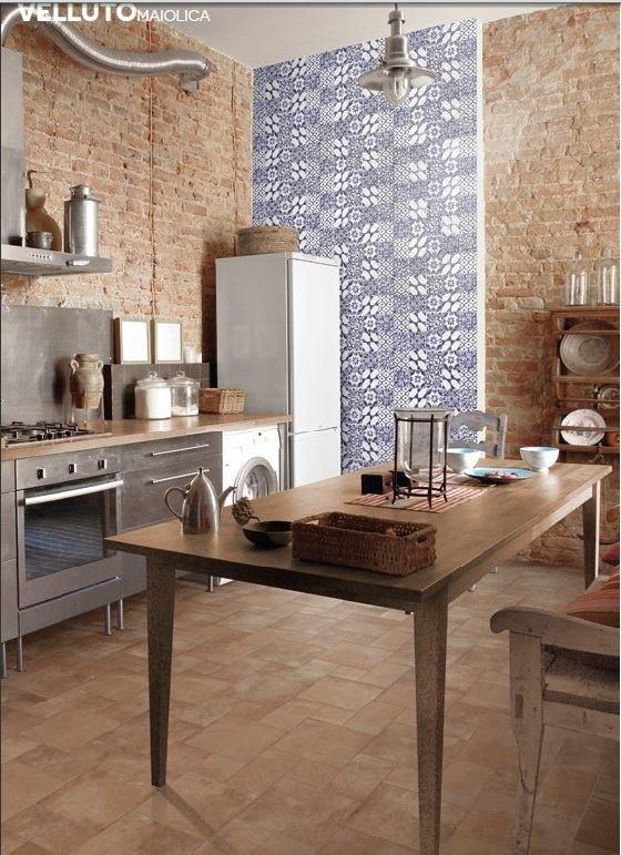 Gạch bông trang trí phòng bếp