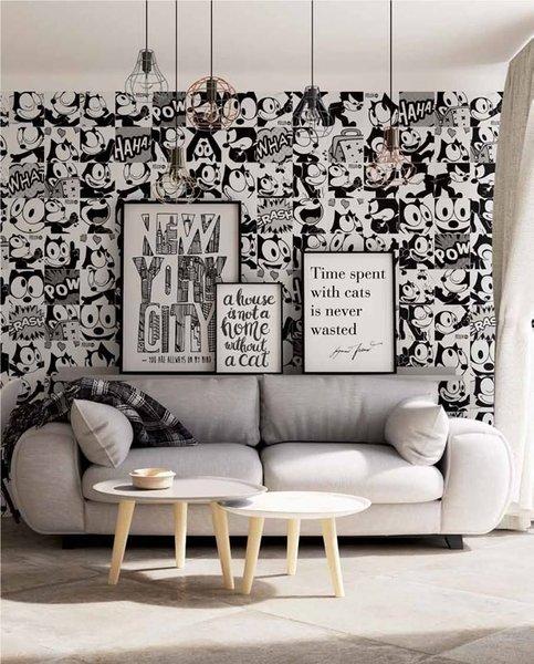 Gạch gốm ốp tường phòng khách
