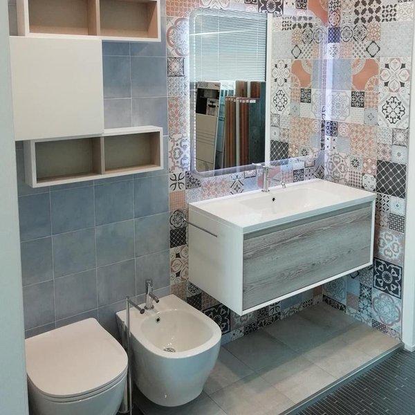 Gạch hoa ốp tường nhà tắm
