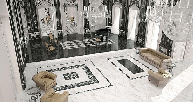 Gạch trải đều tạo cảm giác như một tấm thảm thu hút