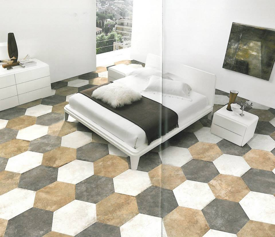 Gạch lục giác trang trí phòng ngủ