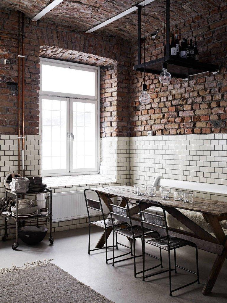 Gạch thô có thể sử dụng cho trang trí nội thất