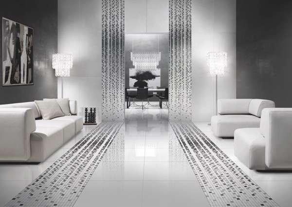 Gạch trắng bóng kiếng cho căn phòng sáng và sang hơn