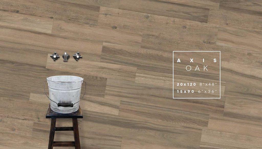 Gam màu trung tính Axis Oak nâu xám thường được sử dụng cho các khu vực hành lang dẫn bộ cần sự di chuyển nhiều