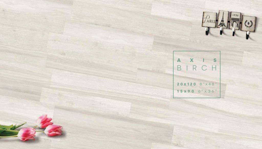 Không gian thanh lịch cùng tông màu sáng dành cho phòng khách như Axis Birch - trắng ngà