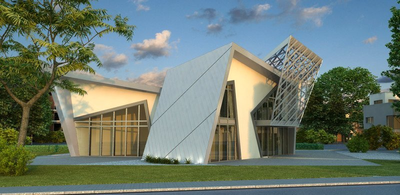 Kiến trúc bên ngoài được thiết kế theo xu hướng mạnh mẽ ấn tượng