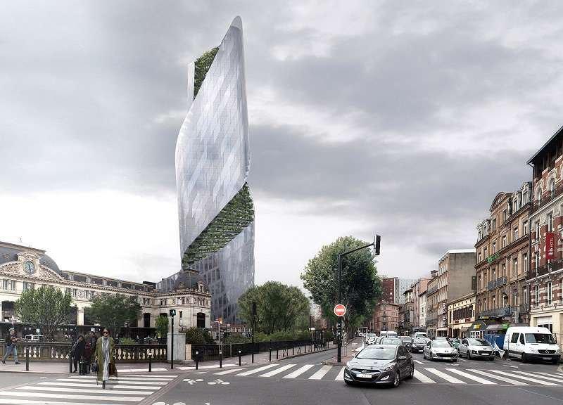 Occitanie Tower thiết kế theo một phương thẳng đứng ấn tượng