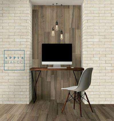 Sự kết hợp hoàn hảo của Appia trắng và gạch vân gỗ