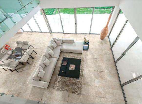 Thiết kế phòng khách với Appia màu xám nhạt