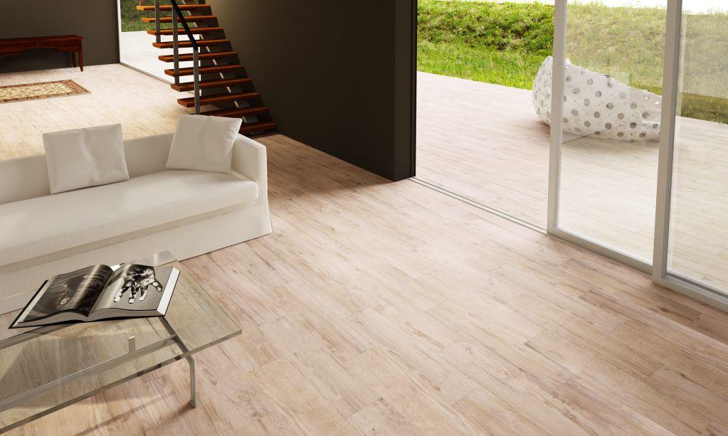 Gạch vân gỗ phù hợp với nhiều nội thất